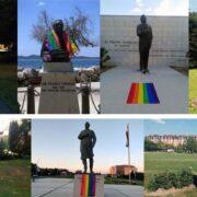 Spomenici u Hrvatskoj okićeni gej zastavama